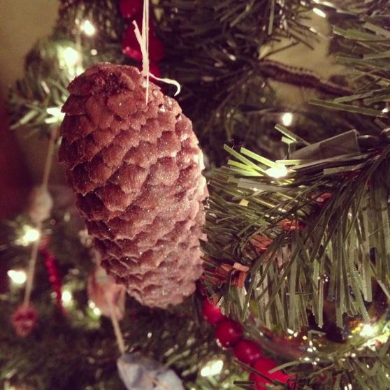 Sparkling Pine Cone Ornament